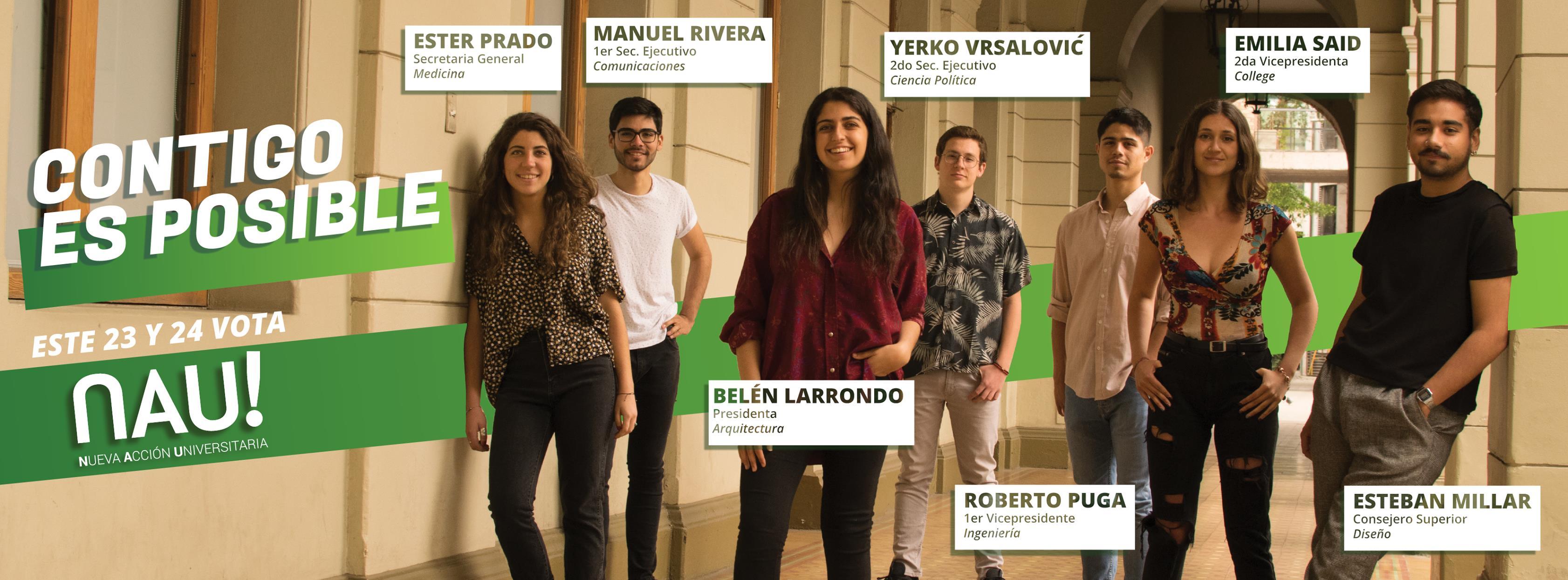 Elecciones FEUC: presentando la lista Nueva Acción Universitaria