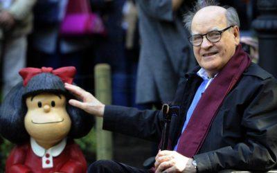 """A los 88 años falleció Quino, el creador de """"Mafalda"""""""