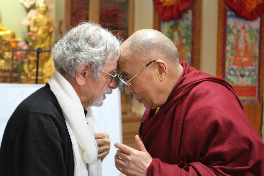 Maturana junto al Dalai Lama
