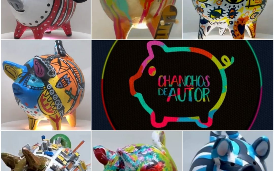 Chanchos de autor: La colaboración artística que le da vida a los chanchitos de greda